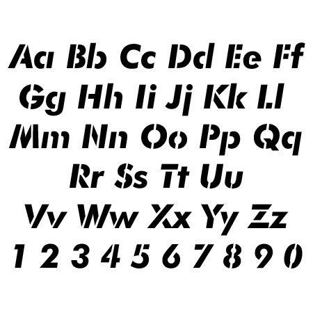 Futura Alphabet Stencil - 22 inch - 60 mil ultraflex ind