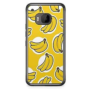 HTC One M9 Transparent Edge Phone Case Banana Phone Case Banana Pattern M9 Cover with Transparent Frame