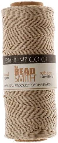 Beadsmith Hemp Twine NATURAL 42655
