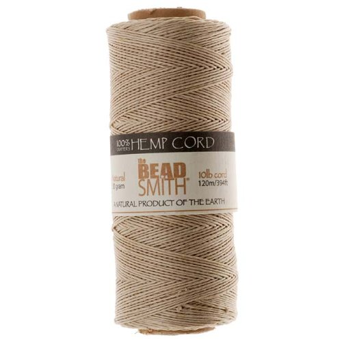 - Beadsmith Hemp Twine Bead Cord .5mm 394 Feet NATURAL 42655