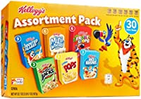 Kellogg's Breakfast Cereal Assortment Variety Pack, Single Serve
