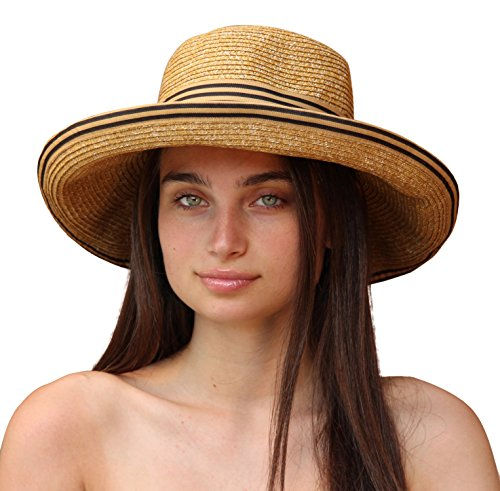 Palms & Sand Women's Beach Hat Sun Hat with UV Sun Protection UPF 50+