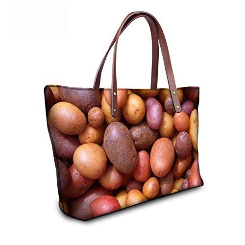 FancyPrint Casual Handbags Women C8wc0432al Bages Tote leather qZqfSv