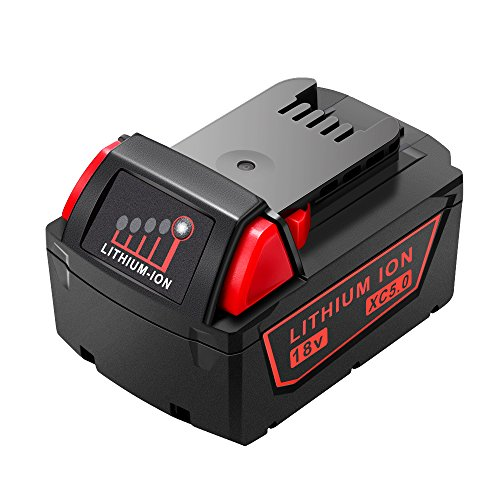 Ofpow 5.0Ah M18 Replacement Battery, 18V 90Wh Battery for Milwaukee M18 Red Lithium Battery 48-11-1850, Milwaukee Fuel Battery, Compatible with All M18 Tools & Chargers, with Fuel Gauge
