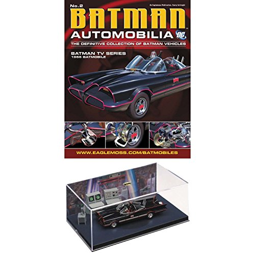 Batman TV Series 1966 Batmobile with Collector Magazine Automobilia 1:43 Scale