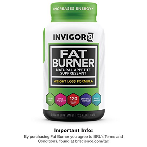 INVIGOR8 Fat Burner and Natural Appetite Suppressant – Healthy Weight Loss Formula and Thermogenic with Green Tea Leaf Extract (30 Day Supply)…