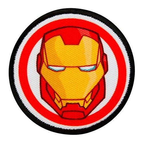 AVENGERS - Iron Man Button - Aufnäher Aufbügler Applikation Patch - ca. 6 cm Mono Quick