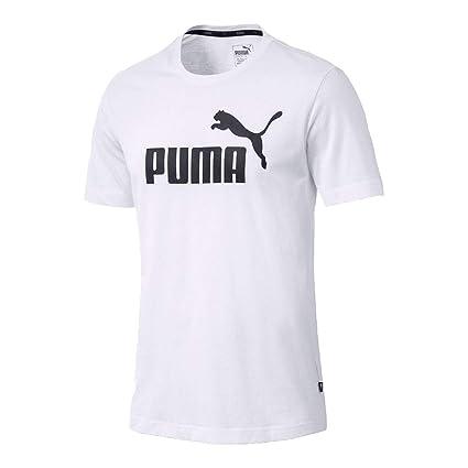054e247f Amazon.com : PUMA Men ESS Essential Logo Tee T-Shirt white : Sports ...