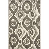 Safavieh Porcello Collection PRL7736A Ivory and Dark Grey Area Rug (3' x 5')