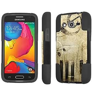 NakedShield Samsung Galaxy Avant G386 Music vintage T Armor Tough Shock Proof KickStand Phone Case