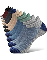 Closemate Mens Trainer Ankle Socks for Sports Athletic Cotton Non Slip Low Cut Running Socks 5 Pair