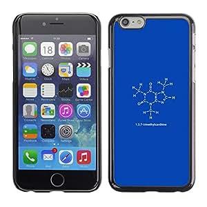 EJOY---Cubierta de la caja de protección la piel dura para el / iPhone 6 / --1 3 7 trimetilxantina