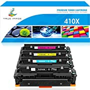 #LightningDeal True Image Compatible Toner Cartridge Replacement for HP 410X 410A M477fnw Color Laserjet Pro MFP M477fdw M477fdn M477 M452dn M452nw M452dw M452 M377dw Printer (Black Cyan Yellow Magenta, 4-Pack)
