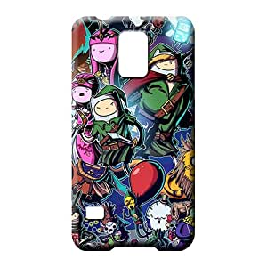 samsung galaxy s5 Slim Back Eco-friendly Packaging phone carrying cover skin Adventure Time Zelda