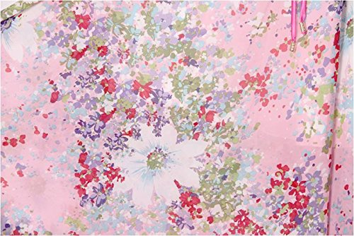 Jupe Taille Mode Fête Femmes Plissé Kaxuyiiy De Maxi Plage La Skirt Tournesol Rose Été Long Fleur Élastique Bohême qwOYBx