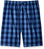 Nautica Men's Buffalo Plaid Cotton Sleep Short Sleepwear, Blue, Small