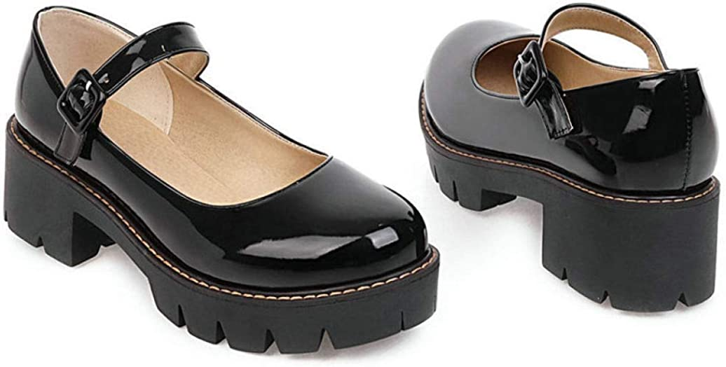 Details about  /Womens Mary Jane Brogue Pumps Bowk Tie Ankle Strap Flat Preppy Casual shoes size