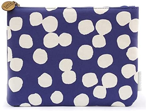 Neceser estuche lápices grande azul oscuro lunares blancos de Kamio Japón: Amazon.es: Juguetes y juegos