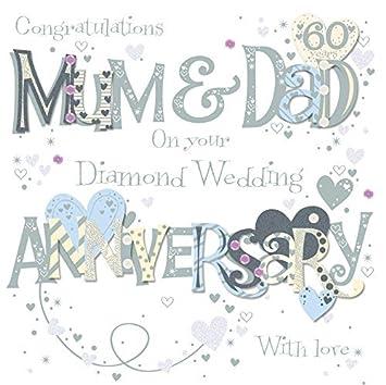 Mum dad diamond 60th wedding anniversary greeting card by talking mum dad diamond 60th wedding anniversary greeting card by talking pictures cards m4hsunfo