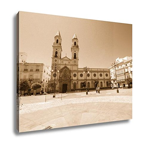 Ashley Canvas San Antonio Square Cadiz Spain, Wall Art Home Decor, Ready to Hang, Sepia, 16x20, AG6516955 by Ashley Canvas