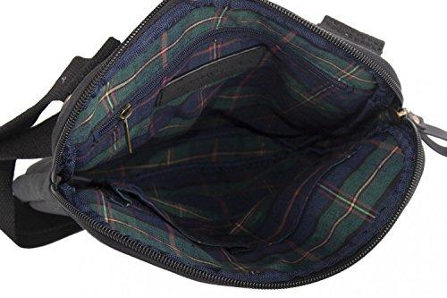 Umgehängt herren CARRERA schwarz bandolier Taschen Kleine platt