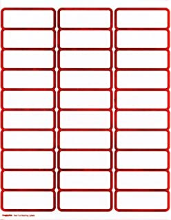 amazon com geographics red with gold foil mailing labels 1 x 2 75