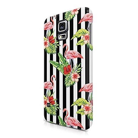 Tropical Flowers Flamingo Birds Aloha Hawaii Pastel Print Pattern Tumblr Hard Plastic Samsung Galaxy S5 Phone Case (Samsung Galaxy S5 Cases Hawaii)