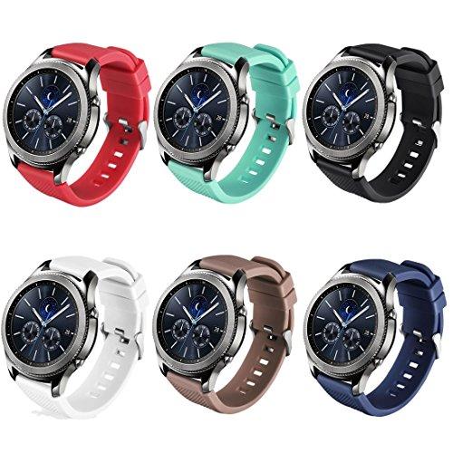 TECKMICO Samsung Gear S3 Frontier/Classic bands Replacement Wristband for Samsung Gear S3 Frontier/Gear S3 Classic Smartwatch 6 color (Watch Fan Gear)