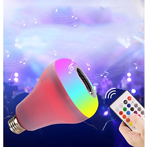 (Ayygift 1-Pack Bluetooth Music Colorful LED Light Bulb Intelligent Colorful Music Stage Light Bulb)