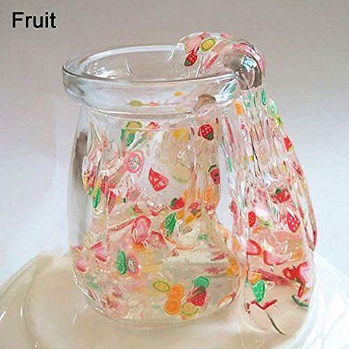 Move on Clear Crystal Putty Scented Fruit Salad Slime for Kids, Super Soft Non Sticky Fruit