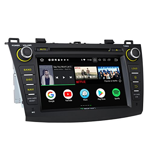 Eonon Newest Android 8.0 Car Stereo Radio 4GB RAM +32GB ROM Octa-Core 8 inch in Dash Touch Screen Car Radio Audio Applicable to Mazda 3 Series 2010,2011,2012 and 2013 with Bluetooth WiFi -GA9163A