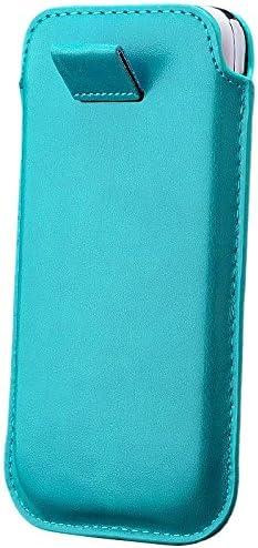iCues Samsung Galaxy S4 Mini Case Turquesa | Extra Fino Cuero Muy Ligero: Amazon.es: Electrónica