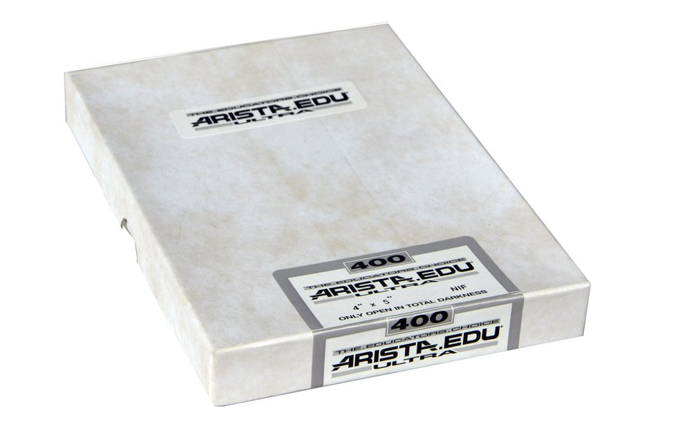 Arista EDU Ultra 400 ISO Black & White Film, 4x5, 50 Sheets
