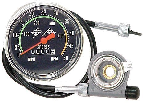 AceList Old School Style Bicycle Speedometer Fits 26-27in. Wheels by Flying Horse