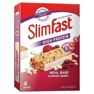 Slim Fast Summer Berry Meal Bar 240 g (60g x 4)