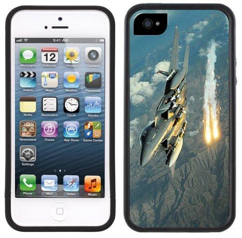 Kampfflugzeug | Handgefertigt | iPhone 5 5s | Schwarze Hülle