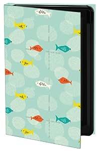 Keka SLP35-2ET1-IPH4 - Funda para iPhone 4 y 4S, diseño de peces de Emily Ann