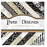 Vishal Pattern Design Printed Papers for Art & Craft, DIY Card making & Scrapbooking (Set of 40 Sheets) (VS8016)