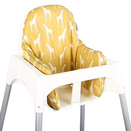 Asiento Cojín revestimiento para Ikea ANTILOP – Jirafas ♥