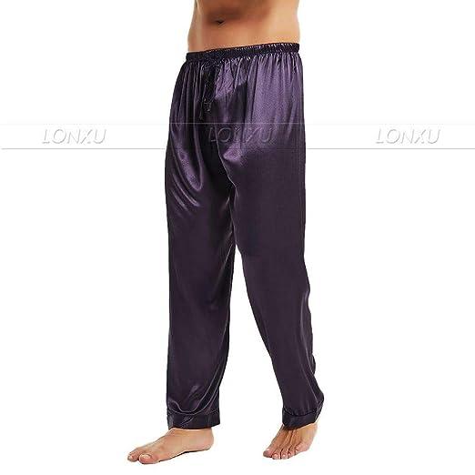 Pijamas de satén de Seda para Hombres Pijamas Pantalones de ...