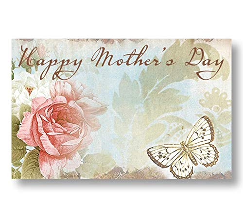 burton+BURTON Rosabella Happy Mother's Day Enclosure Cards, & Butterfly Accent, Pack of 50 ()