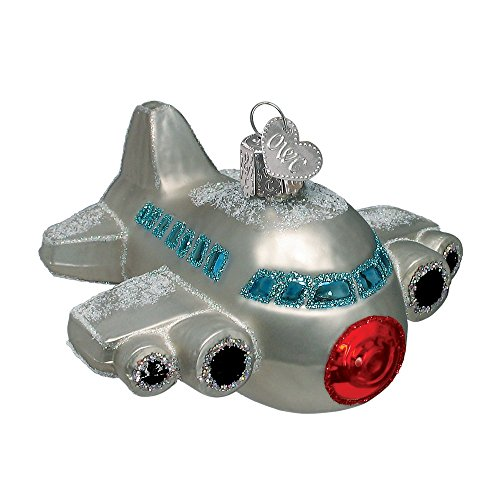 Old World Christmas Aircraft Glass Blown Ornament (Airplane)