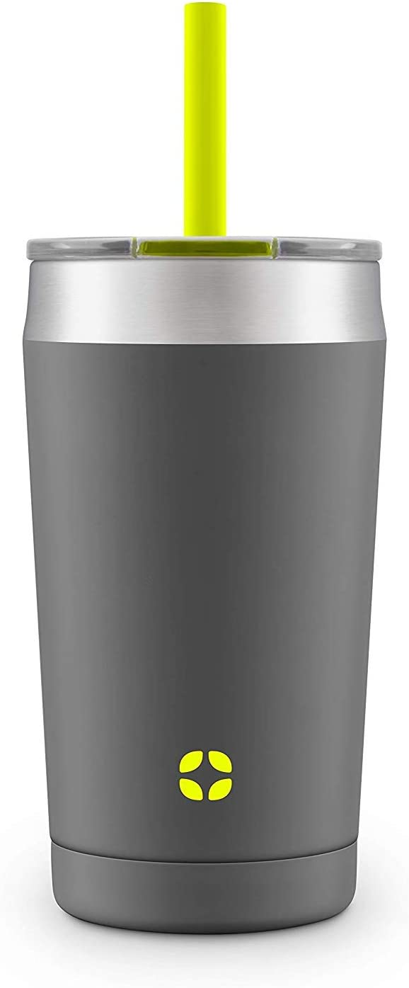 Ello Rise Vacuum Insulated Stainless Steel Tumbler with Optional Straw
