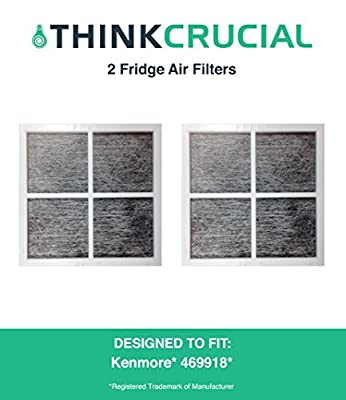 2 Premium Kenmore Elite 9918 Air Purifying Fridge Filter, Part # 469918 & 04609918000, by Think Crucial