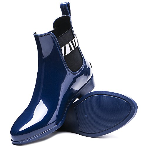 Tongpu Da Donna Slip On Stivaletti Calzatura Impermeabile Blu
