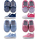 Slip-on Shoe for Baby, Blue-Print, 6-12 months