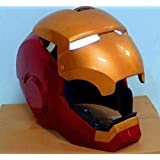 Gmasking Iron Man Cosplay Helmet Scale 1:1 Replica+Gmask Helmet Keychain