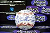 Autograph Warehouse 249288 1986 New York Mets Autographed Baseball Gary Carter Keith Hernandez Doc Gooden Strawberry Ray Knight Aguilera - World Series Team Signed by 32 OMLB