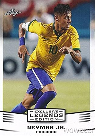 Neymar Jr  2016 Leaf EXCLUSIVE LEGEND Card in MINT Condition! Shipped in  Ultra Pro Top Loader to Protect It! Awesome Tough to Find Card of FC