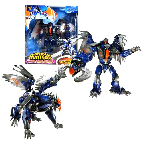 "Hasbro Year 2013 Transformers Prime ""Beast Hunters - Predacon Rising"" Series Exclusive Voyager Class 7 Inch Tall Robot Action Figure - Predacon DARKSTEEL with Eagle-Head Grapple Launcher and Claw Grapple Missile (Beast Mode: Griffin)"